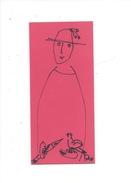 15000 - Dessin De Rose-Marie Eggmann Artiste Genevoise Signé   Femme Chapeau Et Oiseau - Dessins