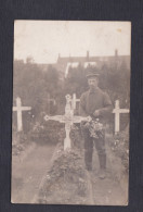 Carte Photo Militär Guerre 1914-18 Tombe Auguste Minoux 12/ Infanterie Regiment 132 ( Mention Monument Morts Labaroche ) - France