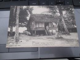 CPA TAHITI LE FARE CASE TAHITIENNE - Tahiti