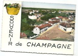 CPSM  51 CHARMONT VUE AERIENNE PLACE HOTEL LION D'OR VOIR ETAT - France