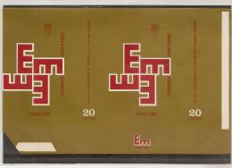 "PORTUGAL MADEIRA FUNCHAL Cigars Labels ""EM"" - Etiketten"