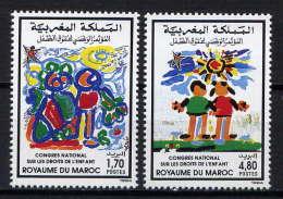 MAROC - 1158/1159** - DROITS DE L'ENFANT - Morocco (1956-...)