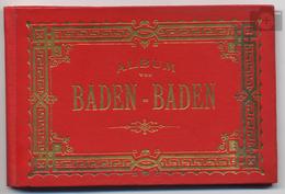 Allemagne, Baden-Württemberg, Album Von Baden-Baden, 18 Photos En Accordéon, Leporello, 1902 - Baden-Baden