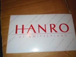 Hanro Of Switserland - Autocollants