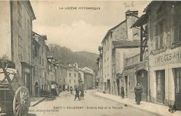 VILLEFORT GRANDE RUE ET LE TEMPLE - Villefort