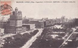 ARGENTINE BUENOS AIRES AVENIDA ESPORA = PASEO COLON BELLE CARTE RARE !!! - Argentine