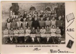 FONTAUD ECOLE LIBRE PHOTO DE CLASSE NOVEMBRE 1951 SAINTE LIVRADE SUR LOT QUI PEUT DIRE ?? - Cartes Postales
