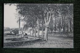 RUFFEC - Les Bords Du Lien Et La Place De L'Eglise - Ruffec