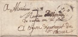 LAC 1829. MP 115/MONTAUBAN Pour LYON/  2087 - Poststempel (Briefe)