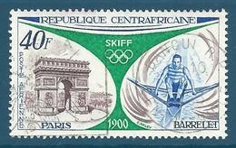 Centrafrique Poste Aérienne N°111 - Rétrospective Des Jeux Olympiques - Paris 1900 - Skiff Oblitéré
