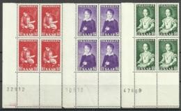Saarland,  Nr. 354-56, Viererblöcke, Postfrisch - 1947-56 Protectorate
