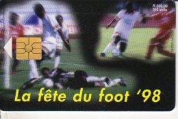 TELECARTE ILE MAURICE LA FETE DU FOOT 98 - Maurice