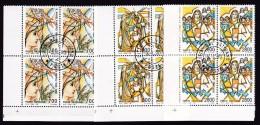 1990 Vaticano Vatican  S. ANGELA MERICI  4 Serie Di 3v. In Quartina Usata Con Gomma USED - Used Stamps