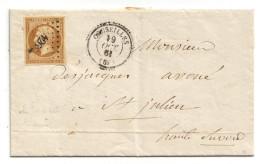 013. LAC N°13 Type2 - Càd Cruseilles (HAUTE SAVOIE) - Indice 19 -  1861 - Marcophilie (Lettres)