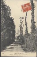P115 Postkarte AK Reville Manche L'Eglise Route Saint Vaast Ca 1908 Carte Postalt Gelaufen Nach Paris Mit Mi. 117 - Sonstige Gemeinden