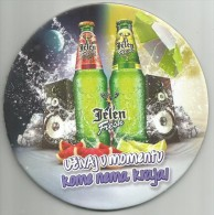 Jelen Fresh  New Beer Coaster  From Serbia  Apatin Brewery - Beer Mats