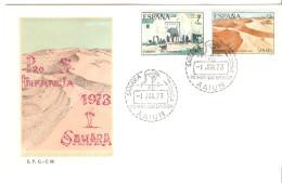 Sobre De Primer Dia   Serie Nº 310/1  Sahara - Sahara Español