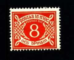 IRELAND/EIRE - 1962  POSTAGE DUE  8d. E WMK  MINT NH SG D12 - Segnatasse