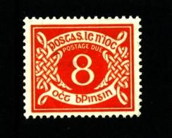 IRELAND/EIRE - 1962  POSTAGE DUE  8d. E WMK INVERTED  MINT NH SG D12w - Segnatasse