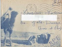 ALGERIE Lettre En FM TRESOR Et POSTES  1956 2 Scans - Marcophilie (Lettres)