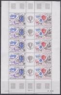TAAF 1984 Bicentenaire De L'Air Et De L'Espace 2v+label In 1  Sheetlet (unfolded) ** Mnh  (TA106) - Luchtpost