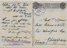 WWII Franchigia 1943 Posta Militare - Italia - Genova - 222° Battaglione Costiero - Guerre 1939-45