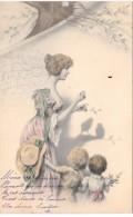 Femme Et Ses Enfants - Illustration MM VIENNE - 213 - Vienne