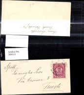 289515,Mini Kuvert M. Karte Trieste Triest - Österreich