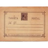 ESETPL019EPTV-LFTEP019.Spain,Espagne.TARTJETA ENTERO POSTAL.REY ALFONSO Xll. 1884 (Ed 19*) - Stamped Stationery
