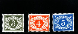 IRELAND/EIRE - 1978  POSTAGE DUES  NO WMK SET MINT NH SG D22/24 - Segnatasse