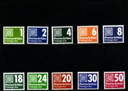 IRELAND/EIRE - 1980-85  POSTAGE DUES SET  MINT NH SG D25/34 - Segnatasse