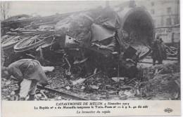 CATASTROPHE DE MELUN 4 Novembre 1913 - Le Rapide N°  2 Tamponne Le Train-Poste N° 11 - La Locomotive Du Rapide - Melun