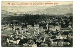 ALLEMAGNE : JENA - BLICK VON LANDGRAFENHAUS AUF JENA, KERNBERGE U AMMERBACHER PLATTE / POSTMARK - MIDDLEWICH (CHESHIRE) - Jena