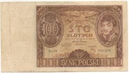 Billet. Pologne/Poland. 100 Zlotych. Bank Polski. 1934. - Pologne
