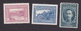 Bulgaria, Scott #156-157, 160, Mint No Gum/ Hinged, Bridge Over Vardar River, View Of Ohrid, Tsar Boris III, Issued 1921 - Unused Stamps