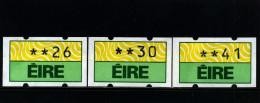 IRELAND/EIRE - 1990  KLUSSENDORF AUTOMATIC LABELS SET  MINT NH - Affrancature Meccaniche/Frama