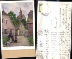 289784,Künstler Ak Hans Götzinger Der Briefträger Postbote Post Postwesen Dorfplatz F - Post & Briefboten