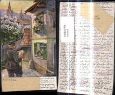 289783,Künstler Ak F. Nieble Der Landbriefträger Postbote Post Postwesen - Post & Briefboten