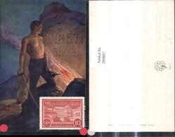 289807,Künstler Ak Venc. Cerneho Vlasti Sluz Mann M. Säbel Schwert Feuer Felsen Polit - Geschichte