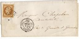 013. LSC N°13 Type2 - Cachet De PARIS DS1 (SEINE) - 1861 - Marcophilie (Lettres)