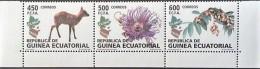 SELLOS GUINEA ECUATORIAL  2008** NUEVOS, FLORA Y FAUNA, EDIFIL 411/413 - Guinea Equatoriale
