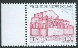 Italia 1982; Anniversario Dei Vespri Siciliani. Francobollo Di Bordo Sinistro. - 6. 1946-.. Republic
