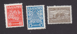 Bulgaria, Scott #364-366, Mint Hinged, Fruit, Bees And Flowers, Plowing, Issued 1940 - 1909-45 Kingdom