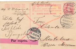 SUISSE - ENTIER POSTAL PAR EXPRES. - Stamped Stationery