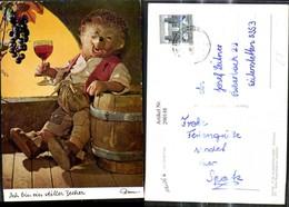 290148,Mecki 311 Igel Mann M. Weinglas Betrunken Wein Fass Ich Bin Ein Stiller Zecher - Mecki