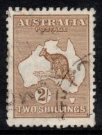 "Aust  1915   3rd Wmk   ""2/- Kangaroo   Brown Die 2""    VFU   (*) - Oblitérés"