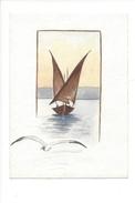 15007 - Petite Aquarelle  Format 9 X 13  Barque Du Léman - Aquarelles