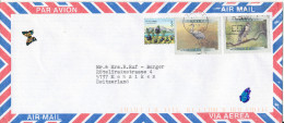 Canada Air Mail Cover Sent To Switzerland 1999 Topic Stamps BIRDS - Poste Aérienne