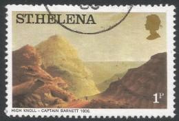 St Helena. 1976 Aquatints And Lithographs Of St Helena. 1p Used. SG 319B - Saint Helena Island