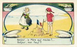 E OROT - Art Nouveau - Jeux De Plage , Enfant - Bécacine - Lot De 3 Cartes - Illustrators & Photographers